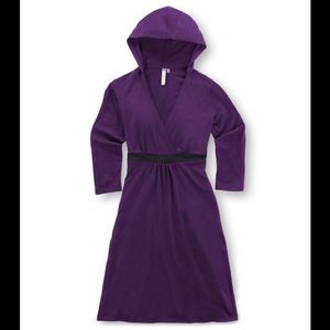 Ibex Hooded Indie Dress V-Neck Merino Wool Pockets